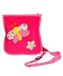 The Button Tree Spring Time Design Sling Bag - Pink