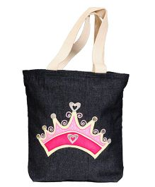 The Button Tree Princess Design Tote Bag - Grey
