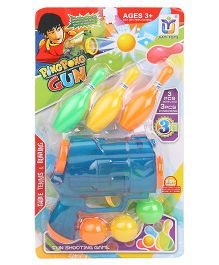 Sunny Toy Gun With Plastic Balls & Bottles - Blue