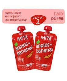 Happa Organic Apple Banana Puree Pack Of 2  - 220 gm