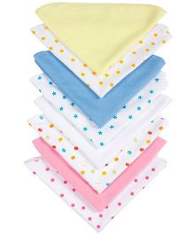 Grandma's Plain And Printed Wash Clothes Pack Of 8 - Assorted Colours