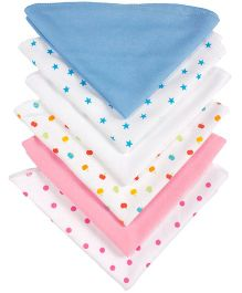 Grandma's Plain And Printed Wash Clothes Pack Of 6 - Assorted Colours
