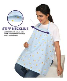 Grandma's Nursing Cover Polka Dots Print - Navy And White