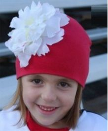 Princess Cart Giant Flower Cap - Red & White