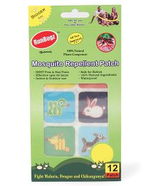 RunBugz Mosquito Repellent Patch Animal Design - Patch Of 12