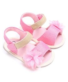 Princess Cart Pink Candy Flower Sandals