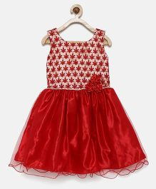 Winakki Kids Shimmer Work Dress - Red