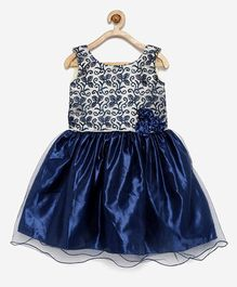 Winakki Kids Embroidered Dress - Blue