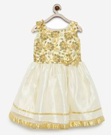 Winakki Kids Embroidered Flower Dress - Cream