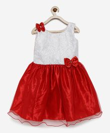 Winakki Kids Sequined Dress - Red