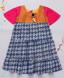 Alpnakids Gypsy Dress With Tie At Back - Multicolor