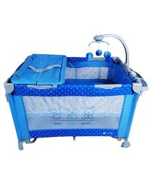 Toyhouse Baby Crib With Detachable Mosquito Net - Blue