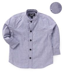 Highflier Mandarin Collar Full Sleeves Shirt - Grey
