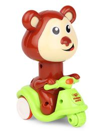 Sunny Press N Go Monkey Toy - Green Brown