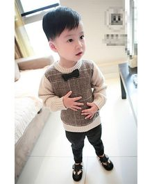 Pre Order - Awabox Sweater With A Bow - Khaki