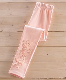 Aakriti Creations Pretty Leggings With Beautiful Lace Work - Pink