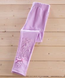 Aakriti Creations Pretty Leggings With Beautiful Lace Work - Purple