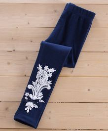 Aakriti Creations Pretty Leggings With Beautiful Lace Work - Navy Blue