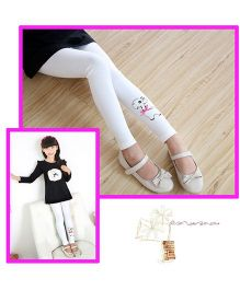 Aakriti Creations Cute Sheep Print Stockings - White