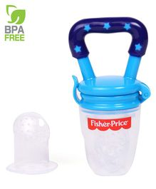 Fisher Price Silicone Food Nibbler Blue Green - 10.5 cm