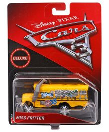 Disney Pixar Cars 3 Miss Fritter Toy Vehicle - Yellow