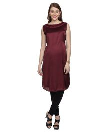 Morph Sleeveless Maternity Kurti - Brown