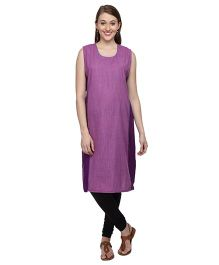 Morph Sleeveless Maternity Kurti - Purple