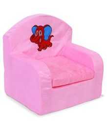 Luvely We Play Kids Sofa Chair Elephant Patch - Pink