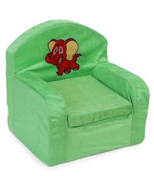 Luvely We Play Kids Sofa Chair Elephant Patch - Green