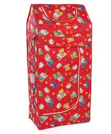 Luvely Cartoon Print Almirah - Red