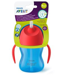 Avent Bendy Straw Cup Red Sky Blue - 200 ml