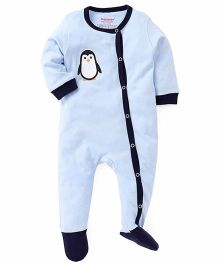 Morisons Baby Dreams Side Open Romper Penguin Print - Blue