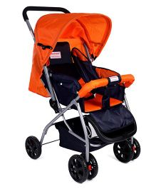 Morisons Baby Dreams Comfort Baby Stroller- Blue & Orange