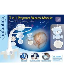 Infantino 3 In 1 Projector Musical Mobile - Light Blue