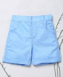 Murphy Mouse Casual Shorts With Front Pockets - Blue