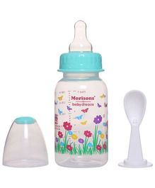 Morisons Baby Dreams Feeding Bottle With Feeder Spoon Green - 150 ML