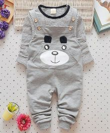 Pre Order - Superfie Teddy Dungaree Style Set - Grey