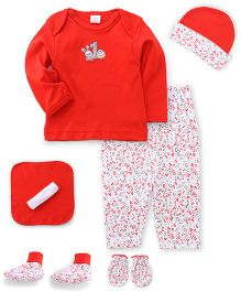 Mee Mee Clothing Gift Set Pack Of 7 - Red White