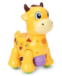 Imagician Playthings Kids Villa Double Fun Playmate Cow Musical Toy - Yellow