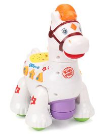 Imagician Playthings Kids Villa Double Fun Playmate Horse - White