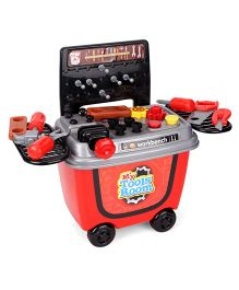 Imagician Playthings Tool Kit Set With Wheels KV-051 - Red