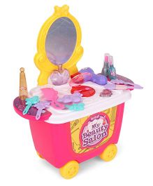 Imagician Playthings Beauty Salon Kit With Wheels KV-052 - Pink