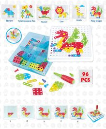 Imagician Playthings Imagi Builder Mosaic Blocks IB 102 Animal Design - 96 pieces