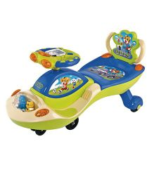 Funride Galaxy Twister Magic Car With Backrest- Green