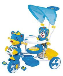 Funride Falcon Tricycle With Umbrella Hood & Parental Handle - Blue