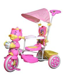 Funride Falcon Tricycle With Umbrella Hood & Parental Handle - Pink