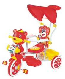 Funride Falcon Tricycle With Umbrella Hood & Parental Handle - Red
