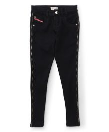 Gini & Jony Full Length Party Wear Trouser - Black