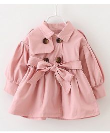 Pre Order - Lil Mantra Puff Sleeved Overcoat Style Jacket - Pink