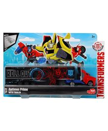 Transformers RID Optimus Prime Truck With Trailer - Blue Red